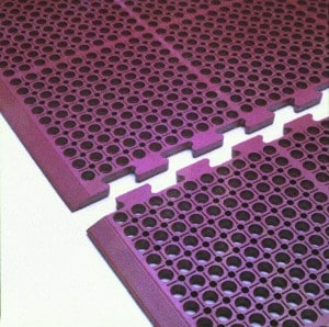 Heavy Duty Interloking Mat - RED