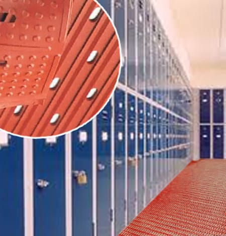 reversible locker room mats
