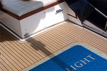 Vinyl Loop Inlay Logo Boat Mats