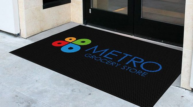 custom logo entry mat